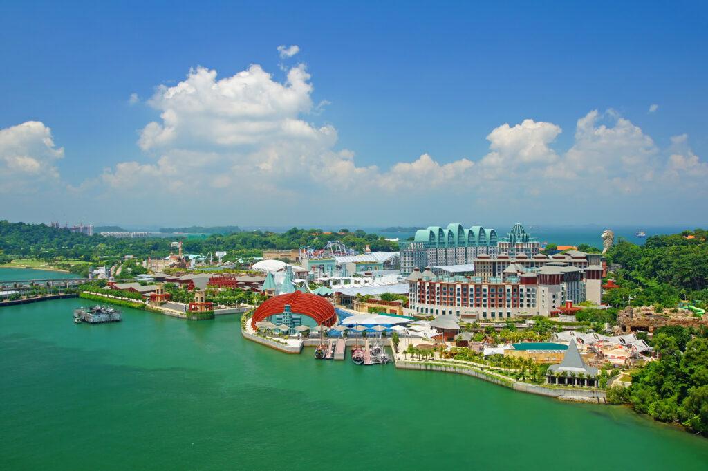 Uitzicht op Sentosa eiland in Singapore