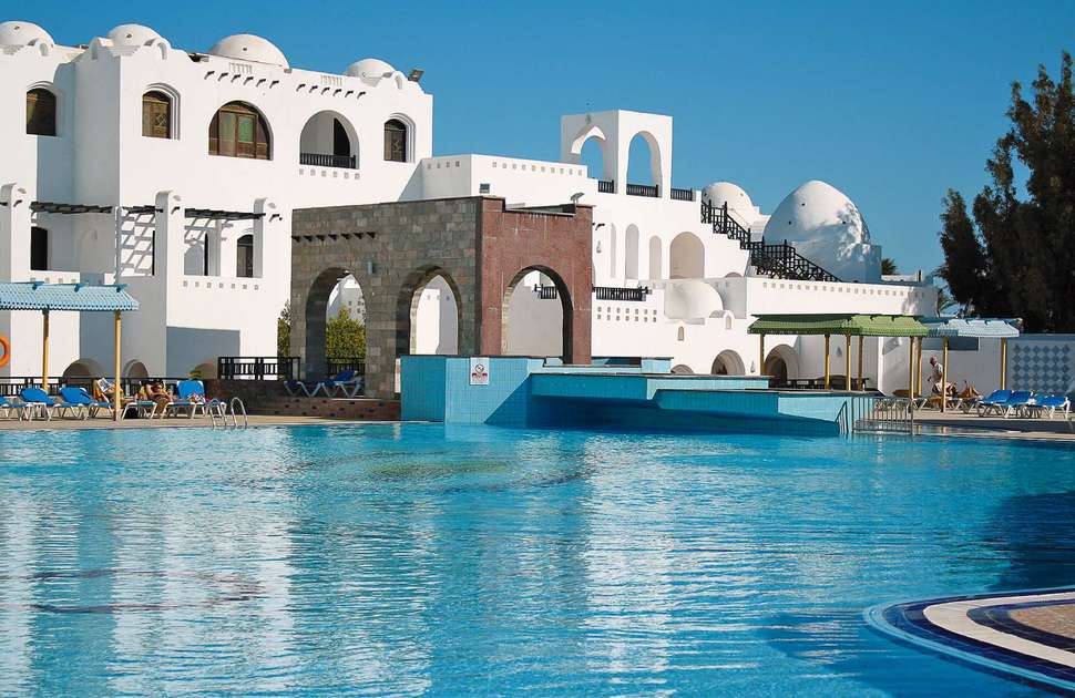 Zwembad van Arabella Azur Resort in Hurghada, Rode Zee, Egypte