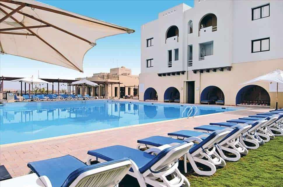 Zwembad van Marina Lodge in Marsa Alam, Rode Zee, Egypte