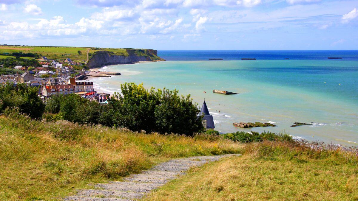 Stranden in Normandië, Frankrijk