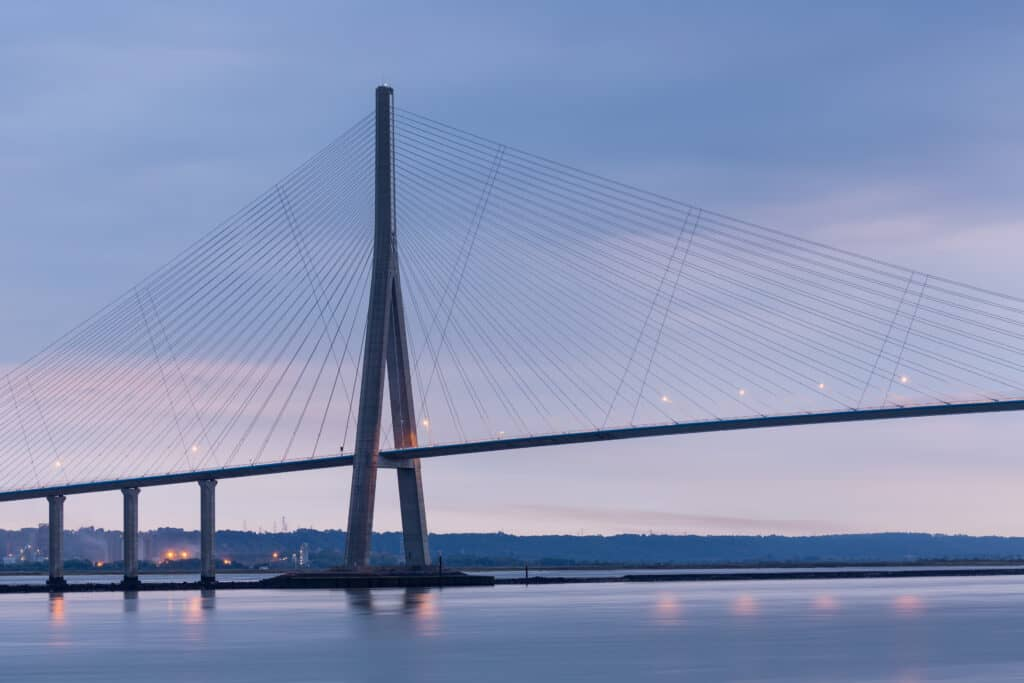 Pont de normandie in Frankrijk