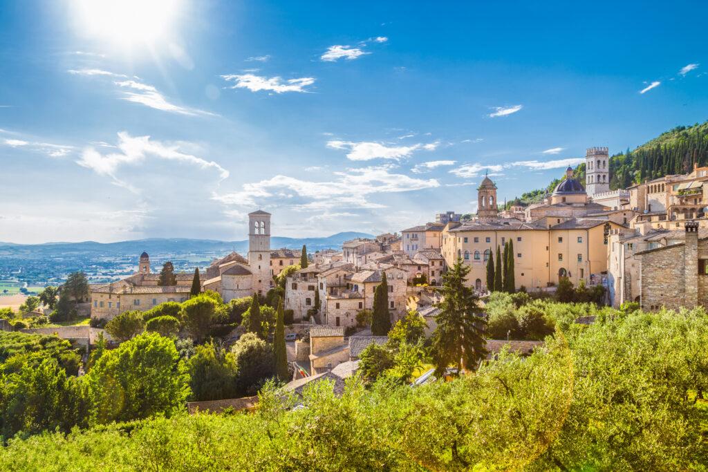 Historische stad Assisi in Umbrië