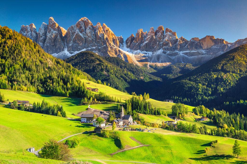 Bergen van de Dolomieten in de Veneto