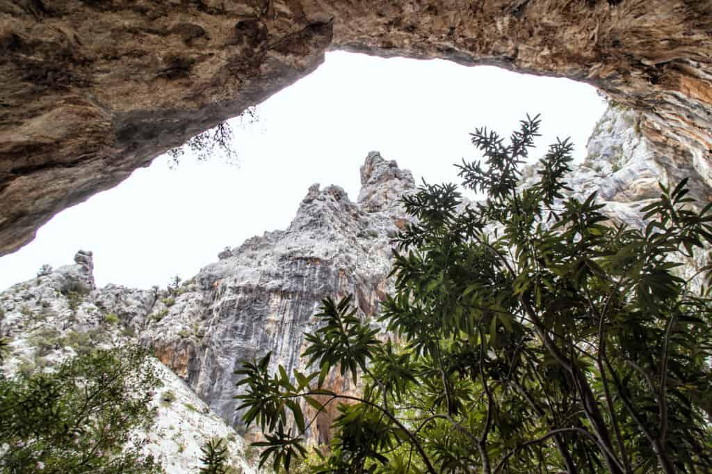 Gola su Gorropu kloof op Sardinië, Italië