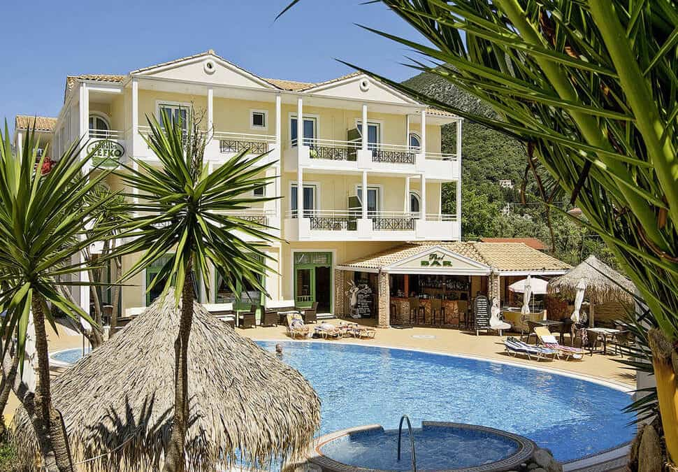 Lefko Hotel & Apartments in Nidri, Lefkas, Griekenland