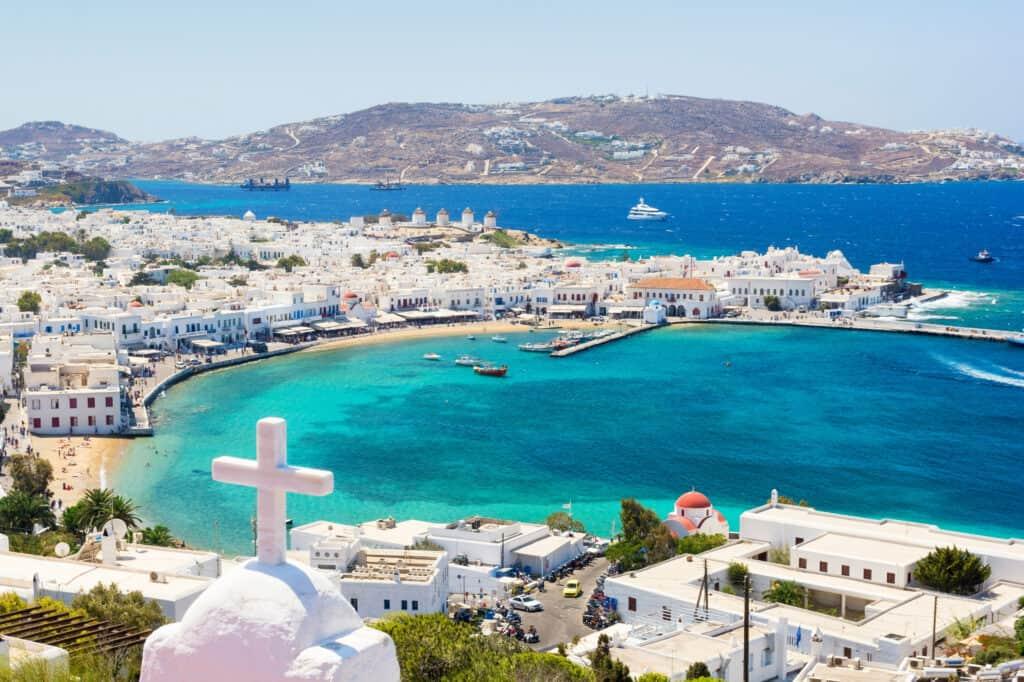 Mykonos stad op Mykonos in Griekenland