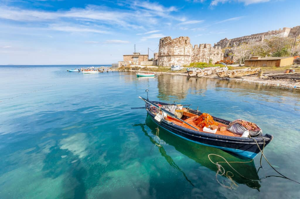 Oude haven van Mytilini op Lesbos, Griekenland