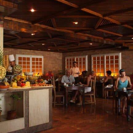Restaurant van Arabia Azur Beach Resort in Hurghada, Rode Zee, Egypte