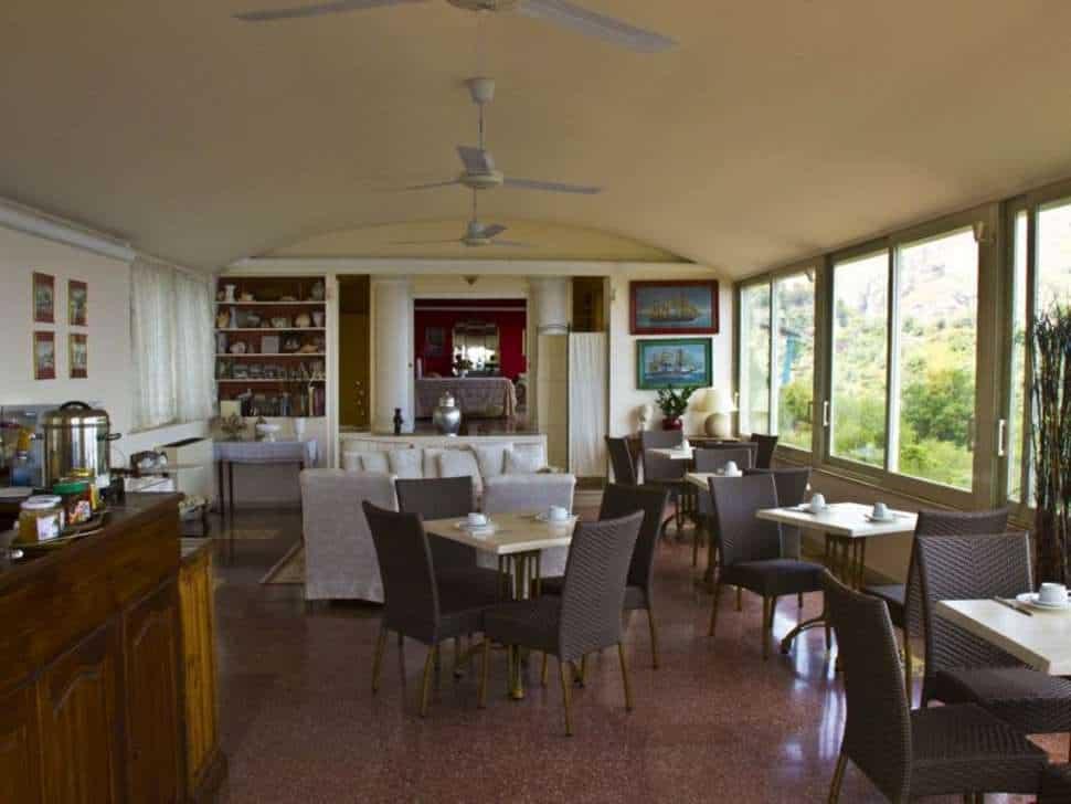 Restaurant van Residence Terra Rossa in Taormina, Sicilië, Italië