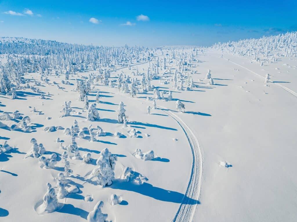 Lapland in de sneeuw