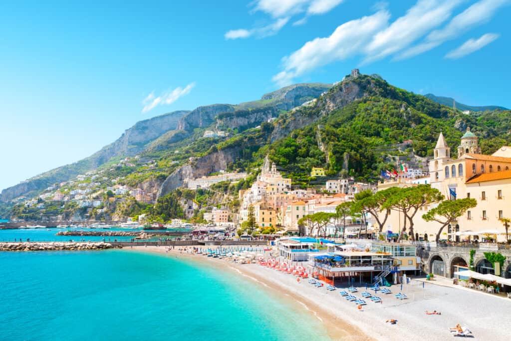 Sorrento aan de Amalfikust. Italië