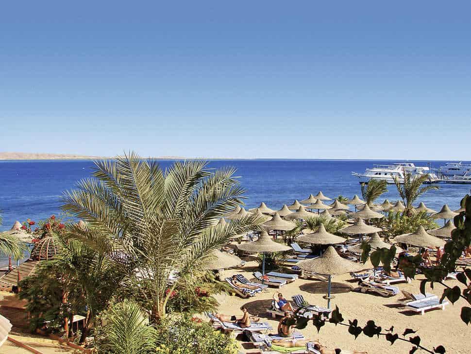 Strand van Bella Vista Hurghada in Hurghada, Rode Zee, Egypte