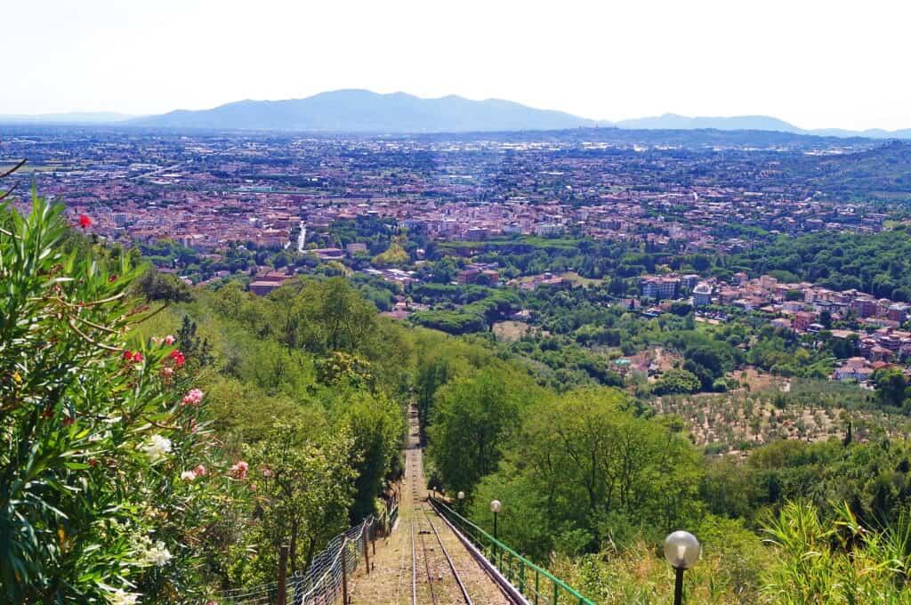 Uitzicht over Montecatini Terme in Italië