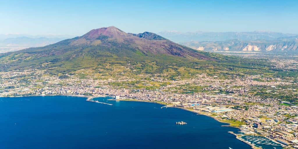 Vulkaan de vesuvius in Italie