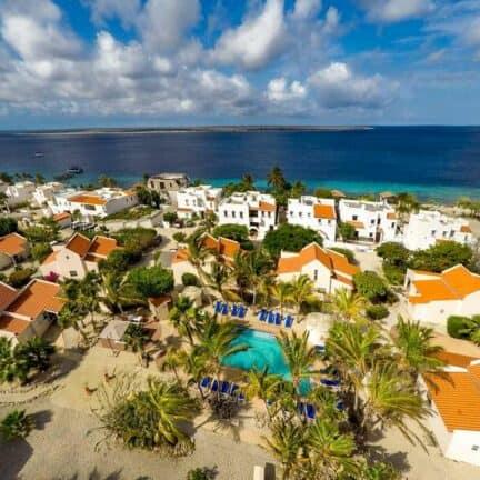 Ligging van Hamlet Oasis Resort in Kralendijk, Bonaire, Bonaire