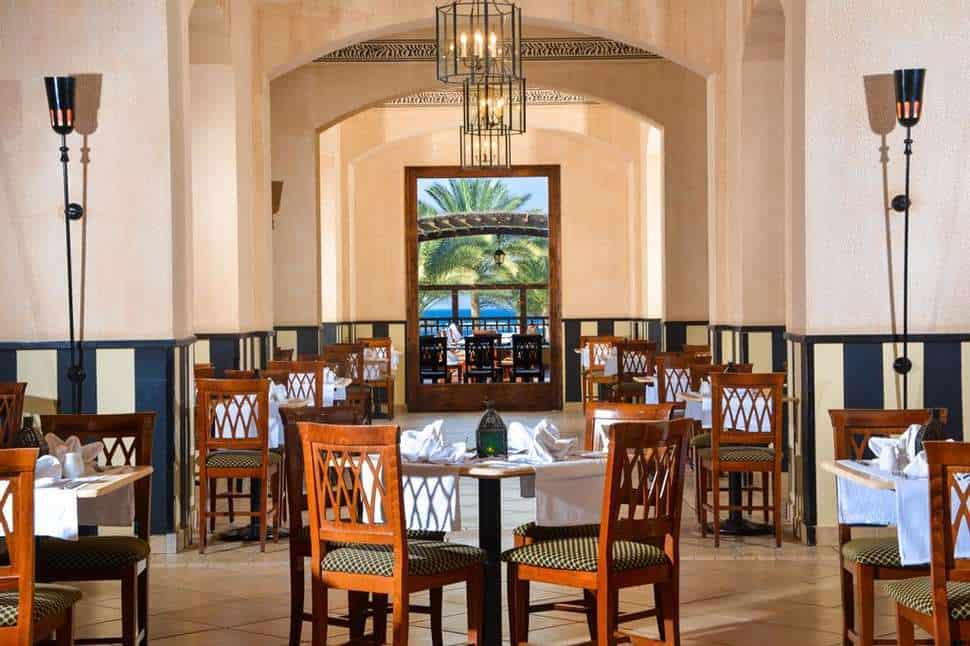 Restaurant van Jaz Solaya in Marsa Alam, Rode Zee, Egypte