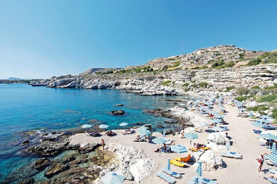 Strand van Kalithea Horizon Royal in Kalithea, Rhodos, Griekenland
