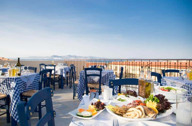 Terras van Labranda Marine Aquapark Resort in Tigaki, Kos, Griekenland