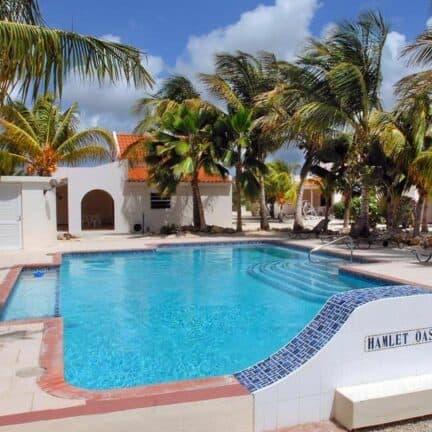 Zwembad van Hamlet Oasis Resort in Kralendijk, Bonaire, Bonaire