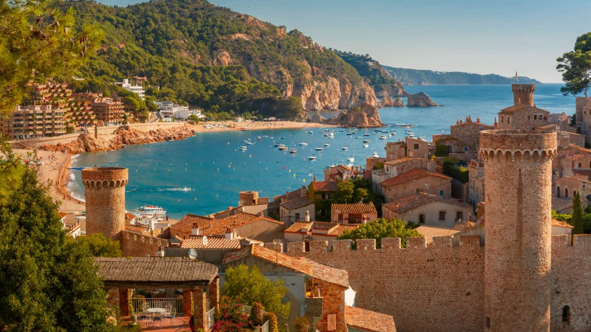 Tossa de Mar aan de Costa Brava in Catalonië, Spanje