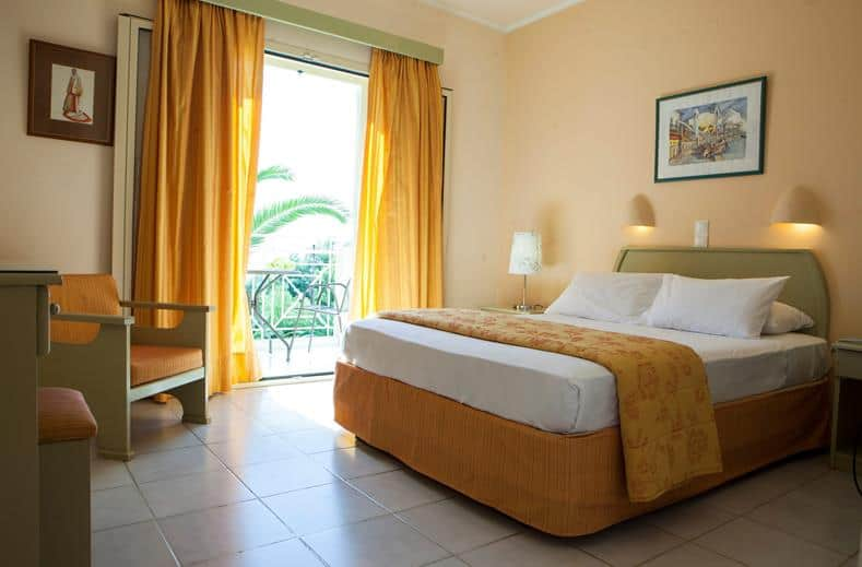 Hotelkamer van Princess hotel in Lassi op Kefalonia, Griekenland