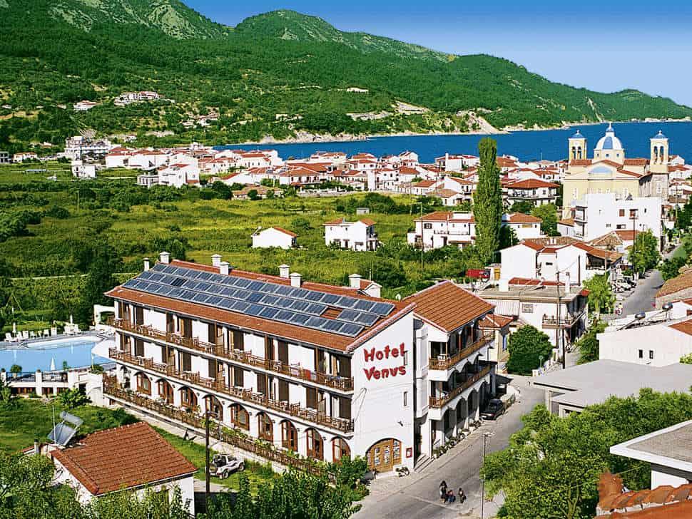 Ligging van Venus in Kokkari, Samos, Griekenland