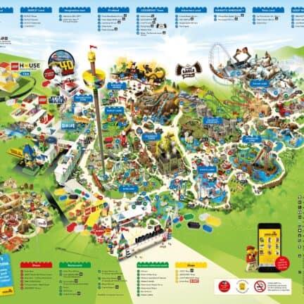 Plattegrond van Legoland Billund, Denemarken