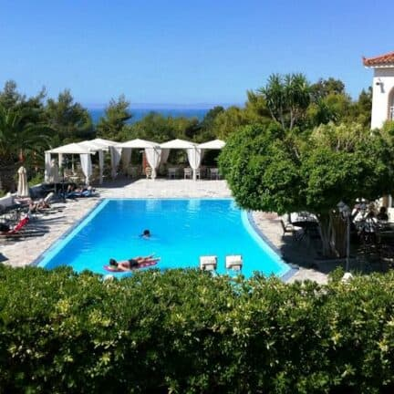 Zwembad van Princess hotel in Lassi op Kefalonia, Griekenland