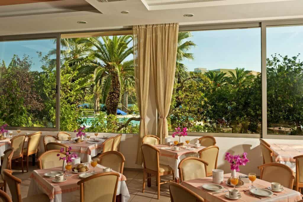 Restaurant van Blue Horizon in Trianda (Ialyssos), Rhodos, Griekenland