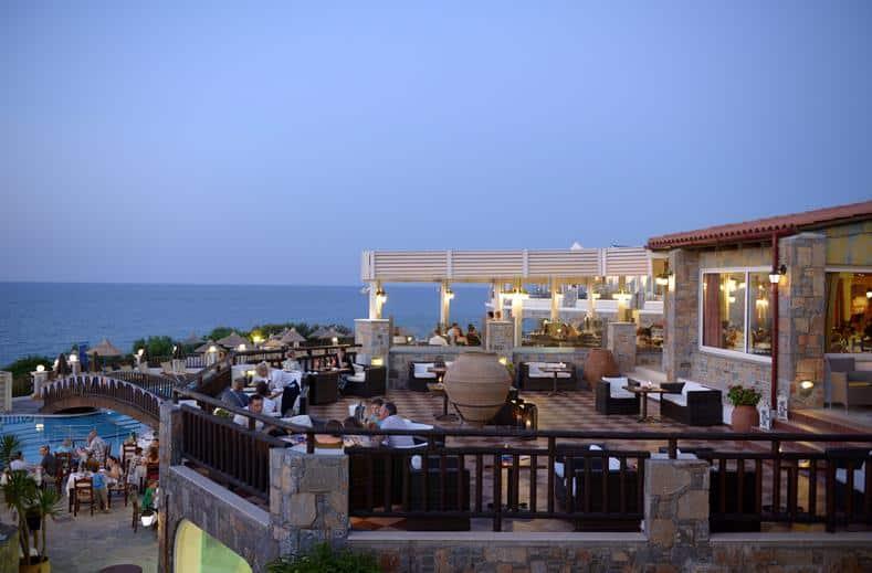 Dineren op het terras
