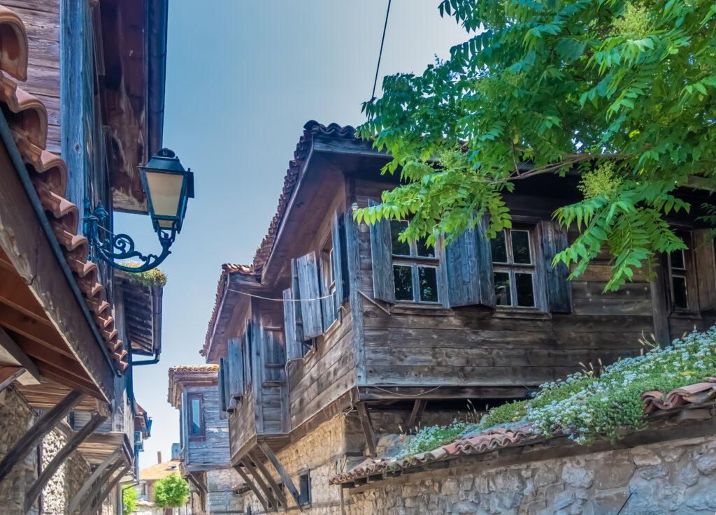 Oude stad van Nessebar in Bulgarije