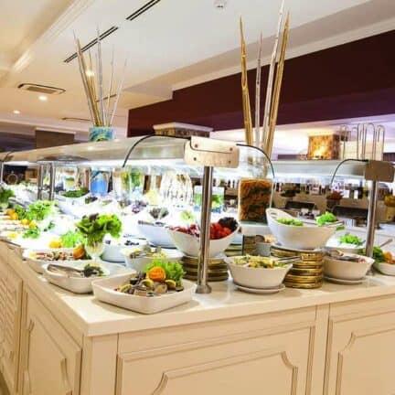 Buffetrestaurant van Side Star Resort in Side, Turkse Rivièra, Turkije