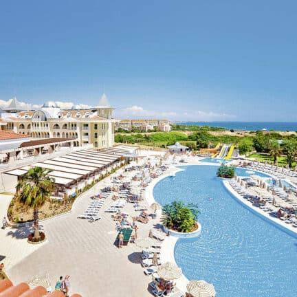 Ligging van Side Star Resort in Side, Turkse Rivièra, Turkije
