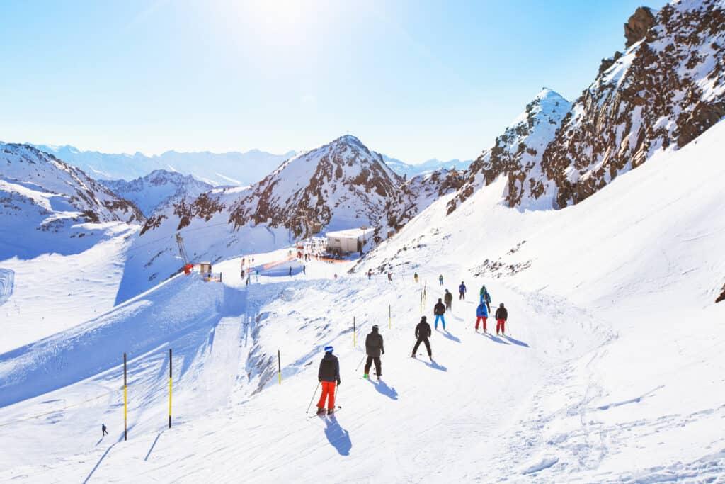 Wintersport in de alpen