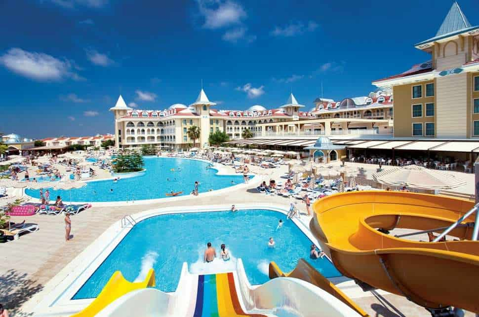 Zwembad van Side Star Resort in Side, Turkse Rivièra, Turkije