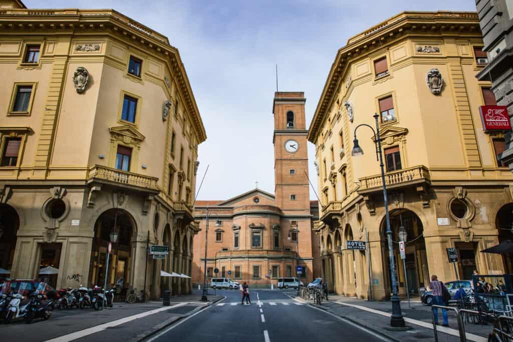 Uitzicht op de kathedraal van Livorno