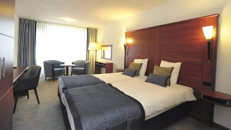 Hotelkamer van Hotel Zuiderduin in Egmond aan Zee, Noord-Holland