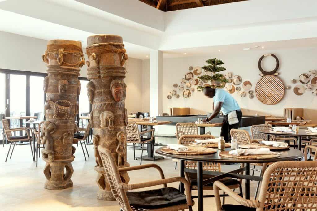 Restaurant van Kalimba Beach Resort in Kotu, Gambia