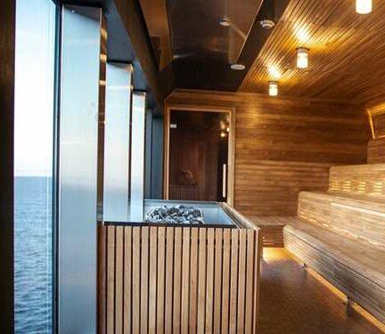 Sauna van MS Roald Amundsen Hurtigruten