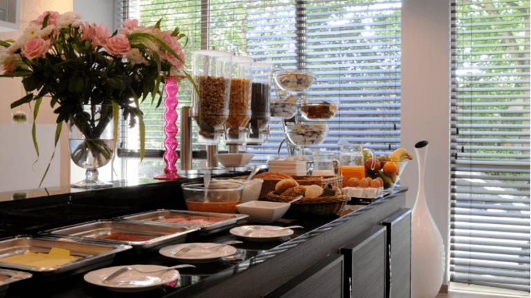 Ontbijtbuffet van Europahotel Gent