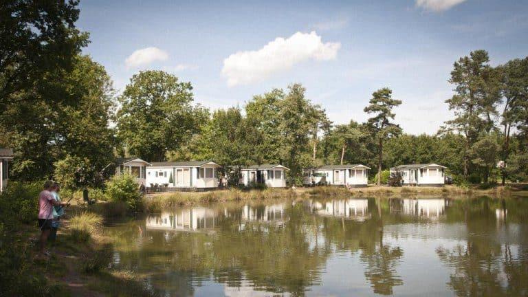 Chalets aan het water in Vakantiepark Westerbergen