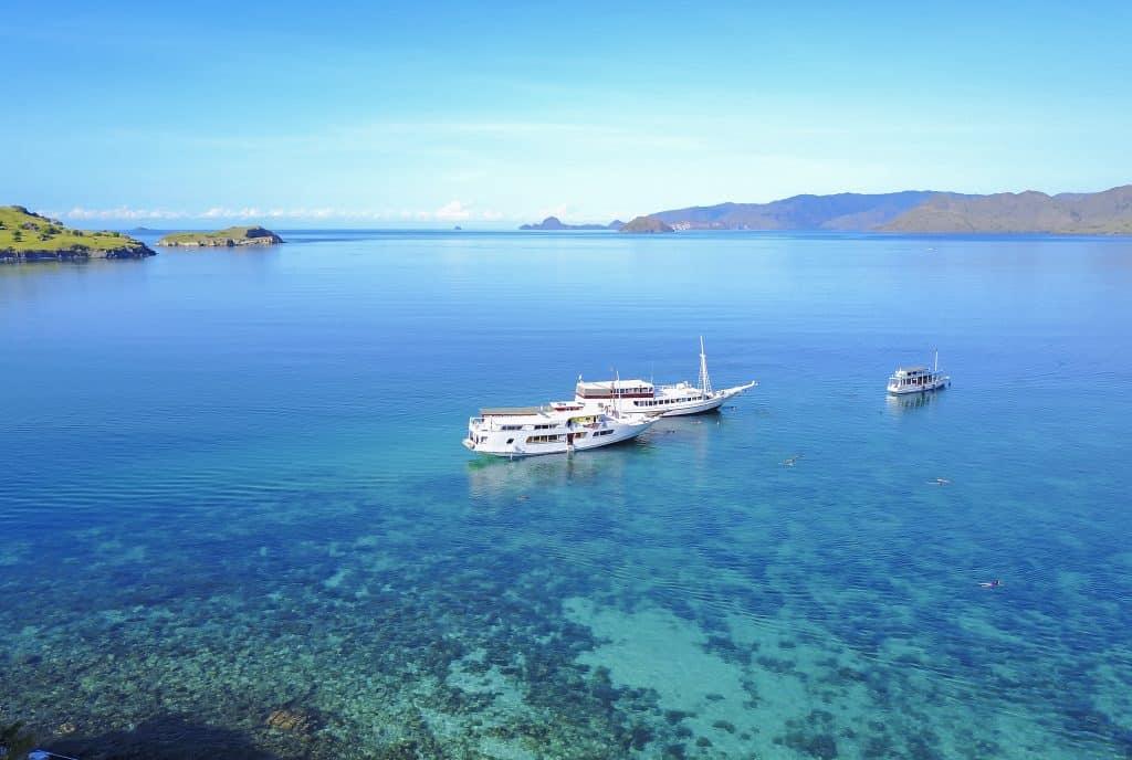 Boot naar de gili eilanden in Indonesië