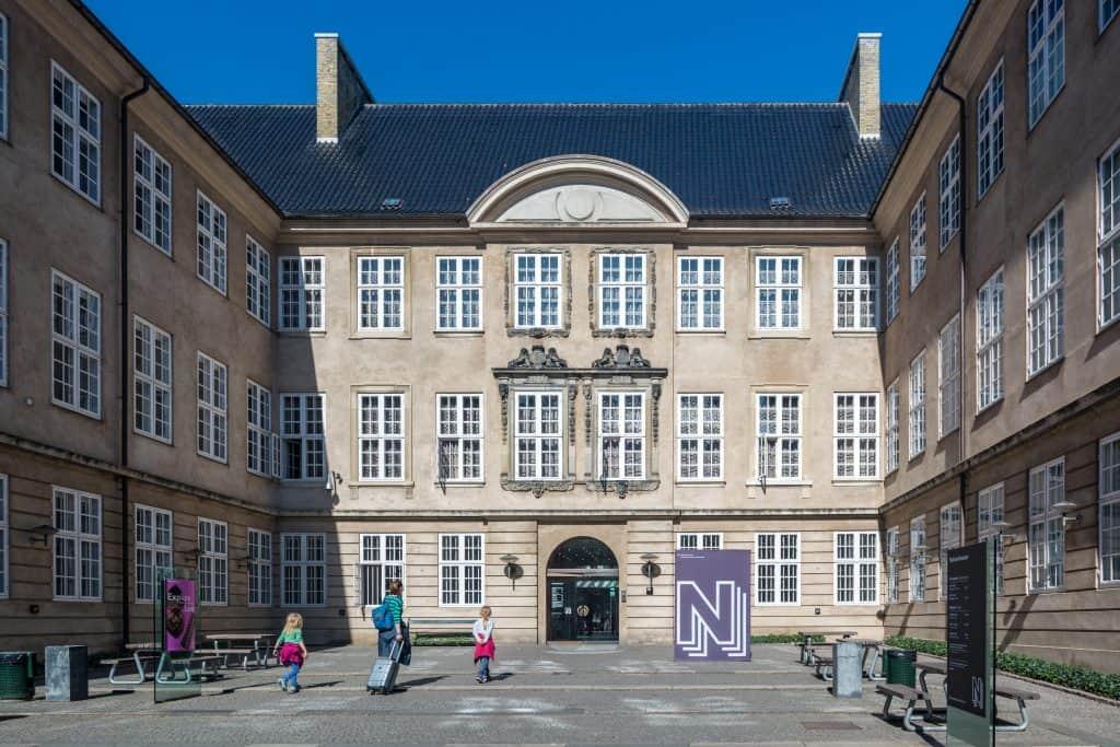 Ingang van Nationaal Museum van Denemarken