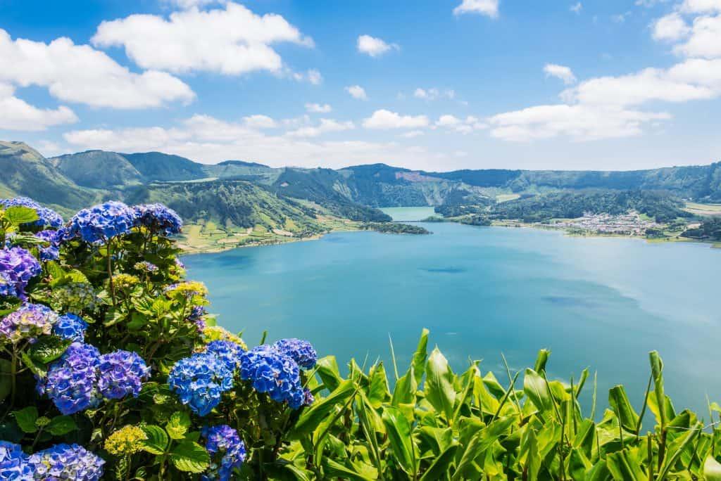 Meer van Sete Cidades op de Azoren