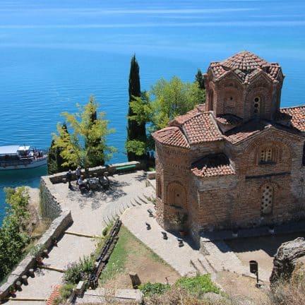 St. Jovan Kaneo kerk in Ohrid, Noord-Macedonië