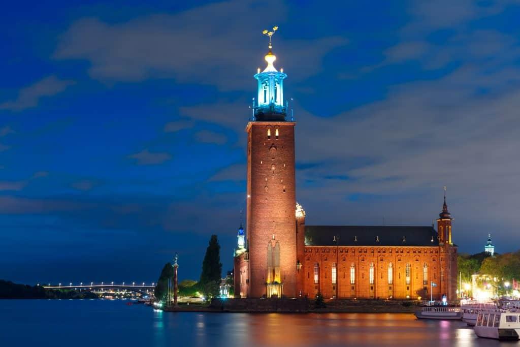 Stadhuis van Stockholm in Zweden