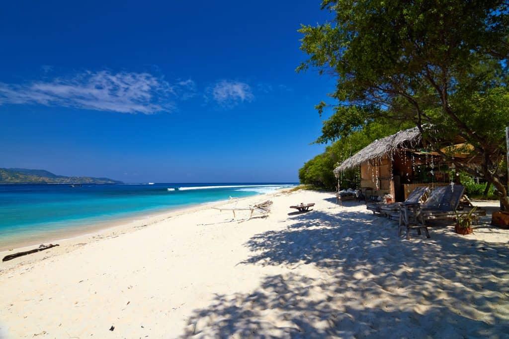 Strand van Gili Meno in Indonesië