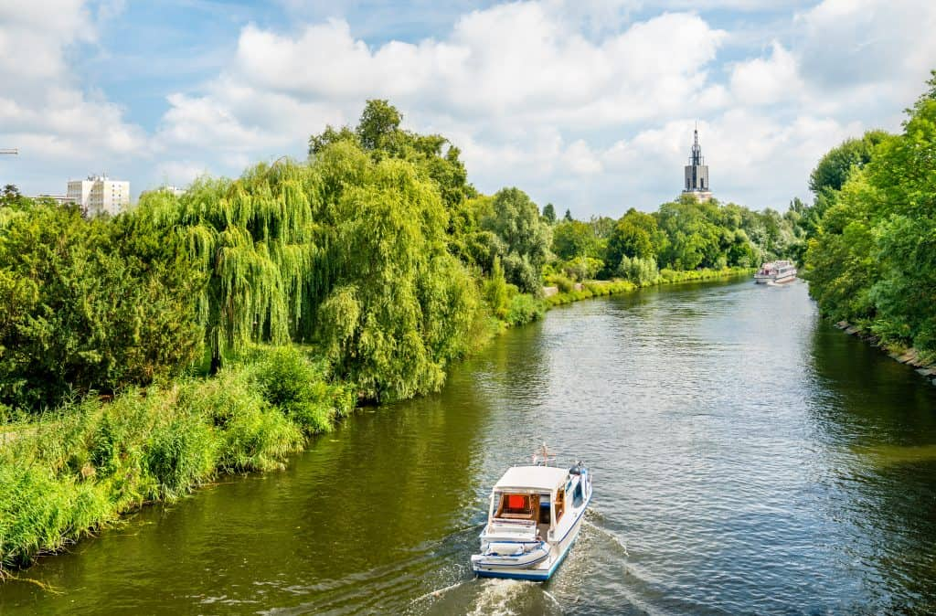 Havel rivier in Potsdam, Brandenburg