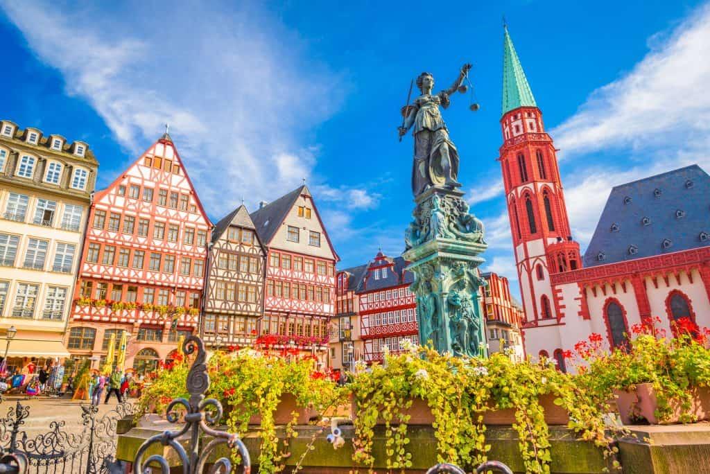 Oude stad van Frankfurt am Main in Hessen, Duitsland