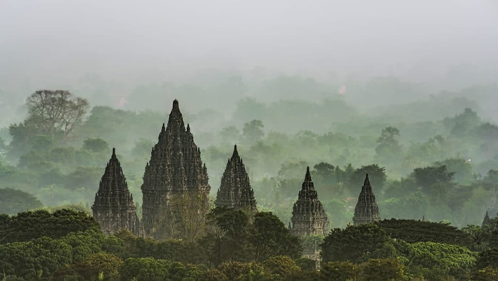 Prambanan tempelcomplex op Java